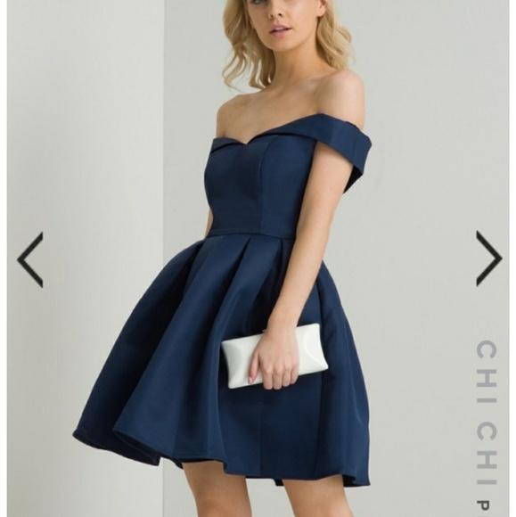 e341e17c7c8c6 Chi Chi London Dresses   Skirts - Chi Chi London Petite Navy Portia Dress